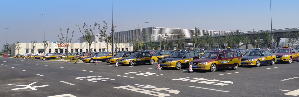 Taxis in Daxing Airport